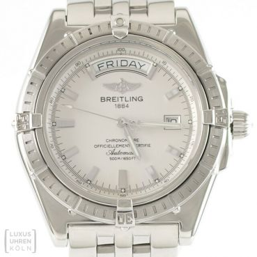 Breitling Uhr Headwind Day-Date Edelstahl Automatik Ref. A45355 Revision