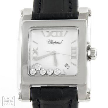 Chopard Happy Sport Square Edelstahl Brillanten 28/8447 GM