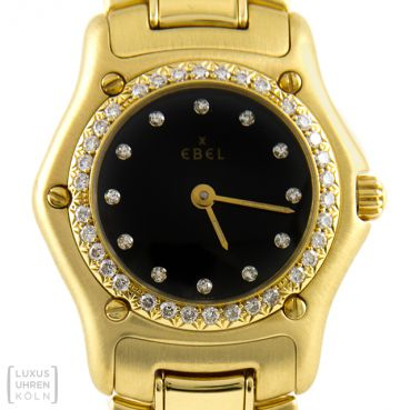 Ebel 1911 Damen Quarz Gold Brillanten Ref. 890910