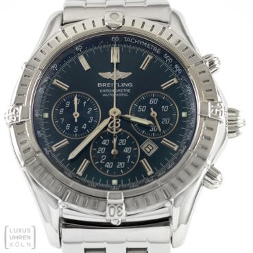 Breitling Uhr Windrider Shadow Flyback Edelstahl Automatik Revision A35312