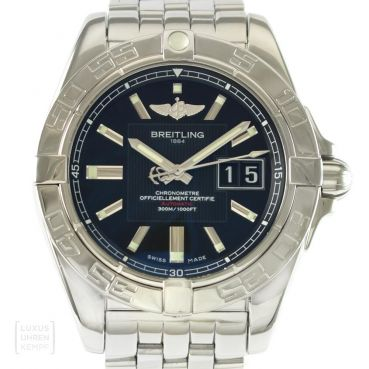 Breitling Uhr Windrider Galactic 41 Edelstahl Ref. A49350 Revision