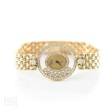 Chopard Uhr Happy Diamonds 750er Gold Brillanten