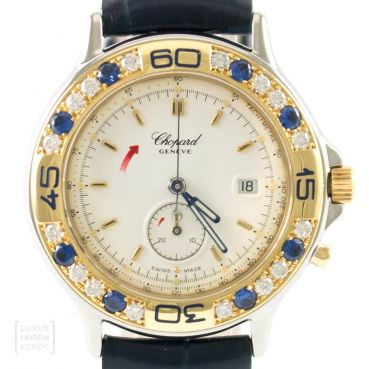 Chopard Uhr Mille Miglia Lady Diamonds Saphire Quarz